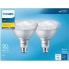 Philips 90W Equivalent Bright White PAR38 Medium LED Floodlight Light Bulb (2-Pack) Image 2