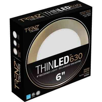Liteline Trenz ThinLED 6 In. New Construction/Remodel IC Rated White 800 Lm. 3000K Recessed Light Kit