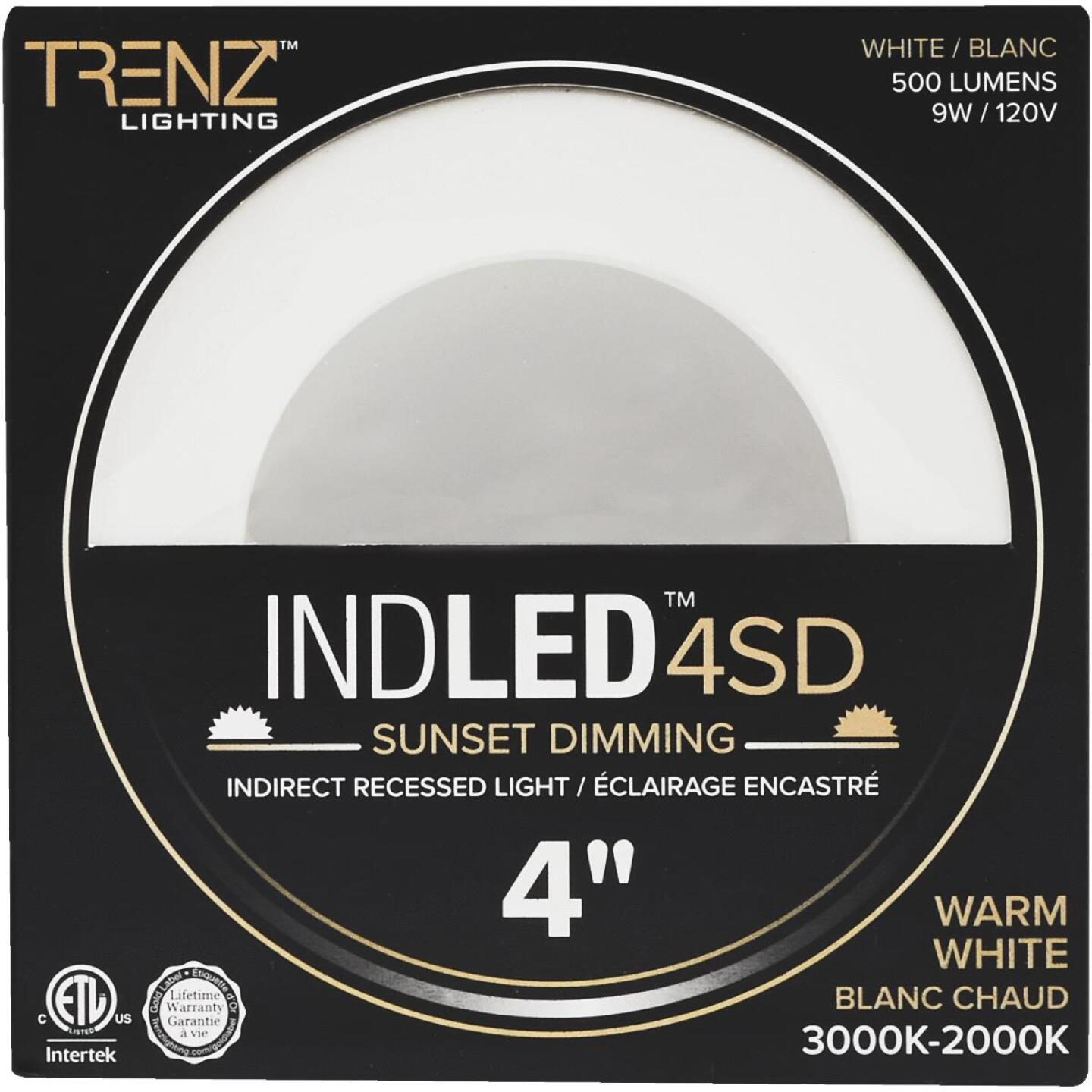 Liteline Trenz ThinLED 4 In. New Construction/Remodel IC White 500 Lm. Sunset Dimming Indirect Recessed Light Kit Image 2
