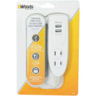 Woods 2 Power & 2 USB White Desktop USB Charger Image 2