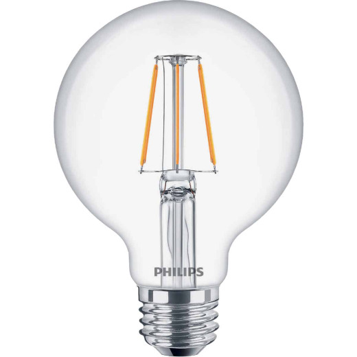 Philips 40W Equivalent Daylight G25 Medium Clear LED Decorative Light Bulb