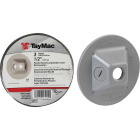 TayMac 3-Outlet Round Polycarbonate Gray Weatherproof Outdoor Box Cover Image 1