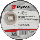 TayMac 3-Outlet Round Polycarbonate Gray Weatherproof Outdoor Box Cover Image 2