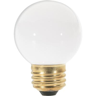 Satco 25W Frosted Medium G16.5 Incandescent Globe Light Bulb