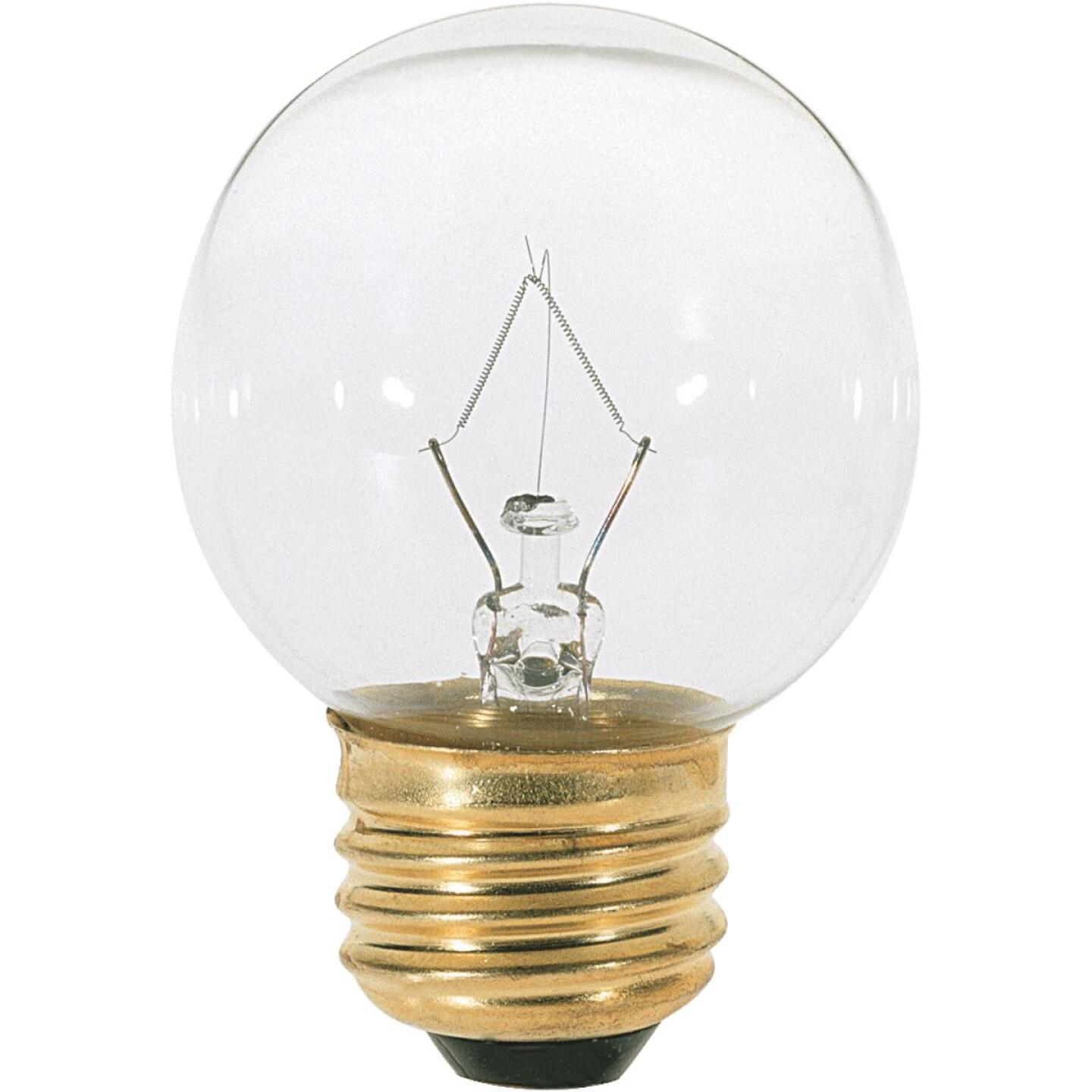 Satco 25W Clear Medium G16.5 Incandescent Globe Light Bulb Image 1