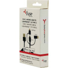Fuse 3 Ft. Black 3-In-1 USB Charging & Sync Cable Image 1