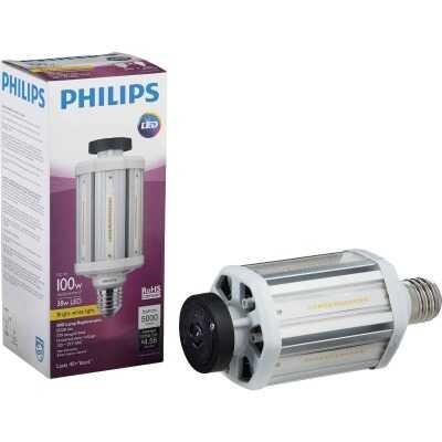 Philips TrueForce 38W Clear Corn Cob Mogul Base LED High-Intensity Light Bulb