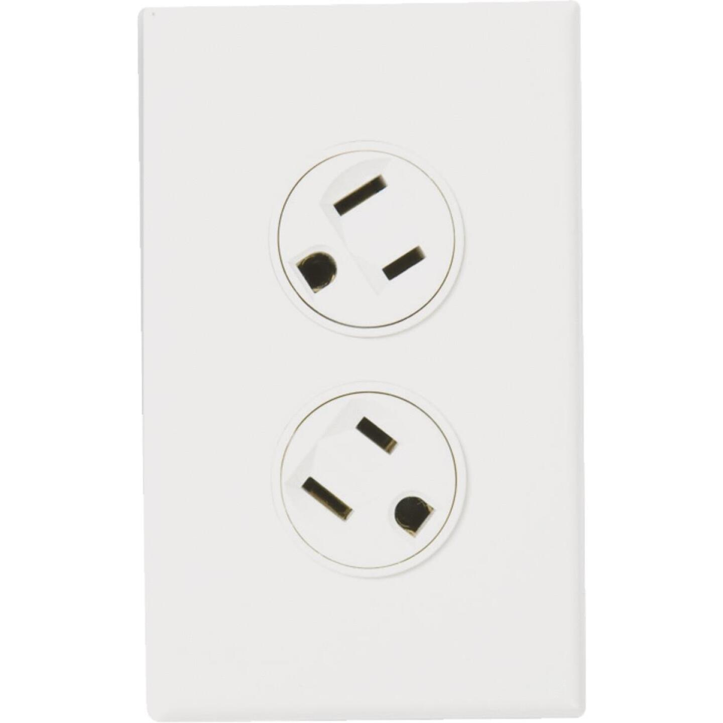 360 Electrical 15A Light Almond Rotating 5-15R Duplex Outlet Image 1