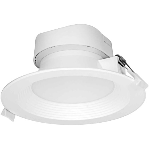 Satco 5 In./6 In. Direct Wired IC Rated White 3000K LED Recessed Light Kit