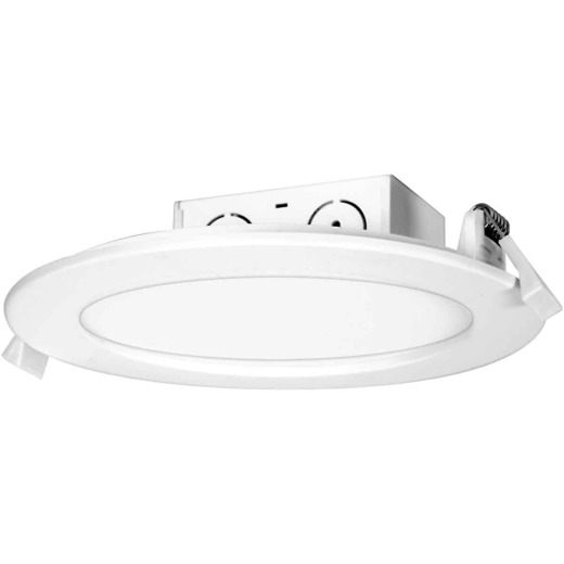 Satco 5 In./6 In. Direct Wired IC Rated White 4000K LED Recessed Light Kit