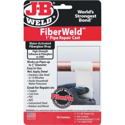 J-B Weld FiberWeld 1 In. Pipe Repair Cast
