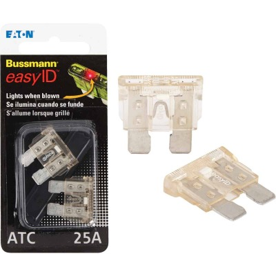 Bussmann 25-Amp 32-Volt ATC Blade easyID Automotive Fuse (2-Pack)