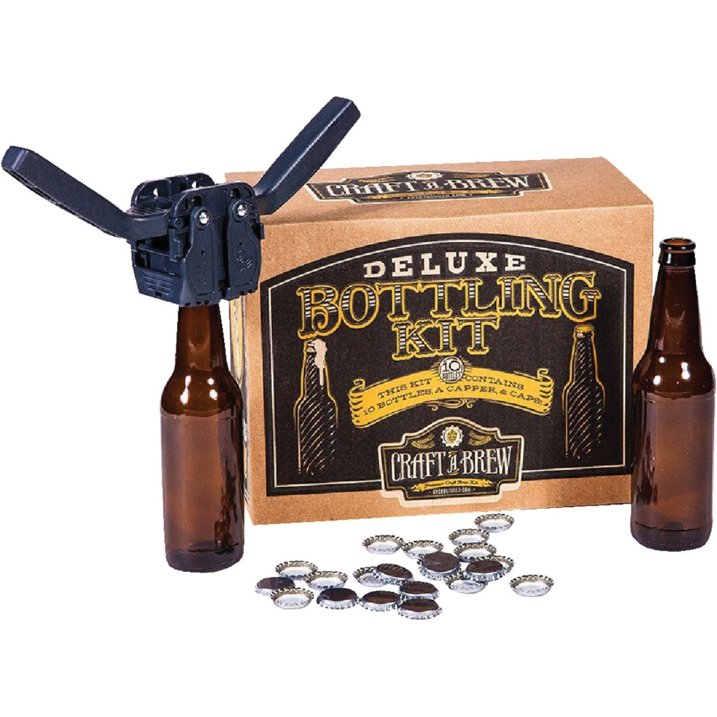 Craft A Brew Deluxe Beer Bottling Kit (10-Piece) Image 1