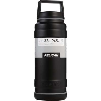 Pelican 32 Oz. Black Stainless Steel Travel Bottle