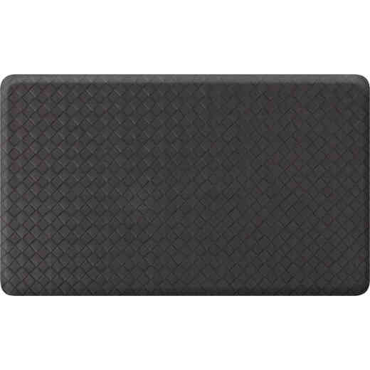 GelPro NewLife 18 In. x 30 In. Black Basketweave Designer Comfort Mat