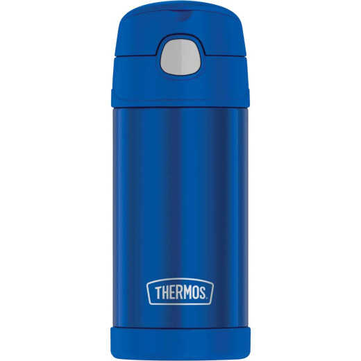 Thermos Funtainer 12 Oz. Navy Stainless Steel Water Bottle With Straw