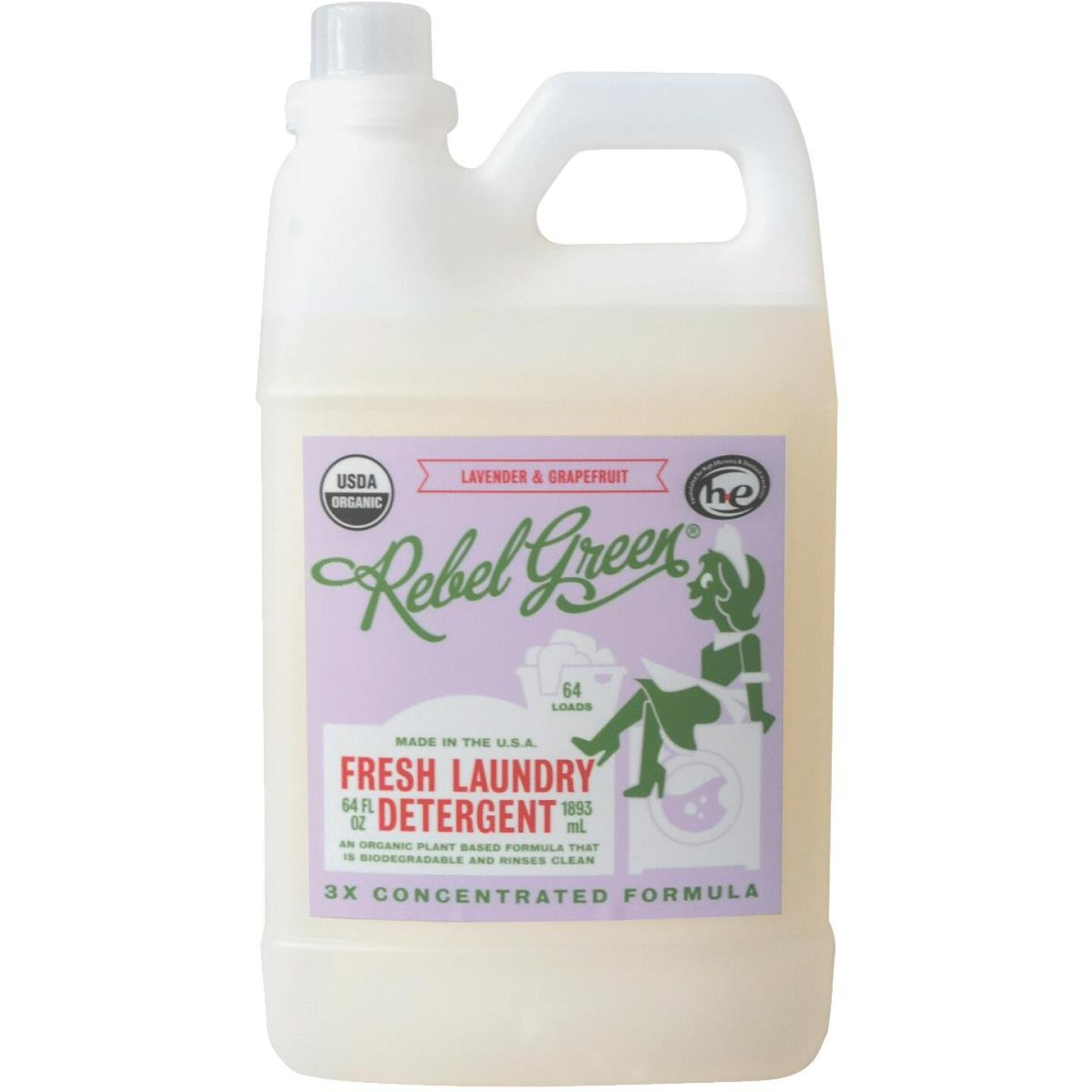 Rebel Green 64 Oz. 64-Load Lavender & Grapefruit Laundry Detergent Image 1