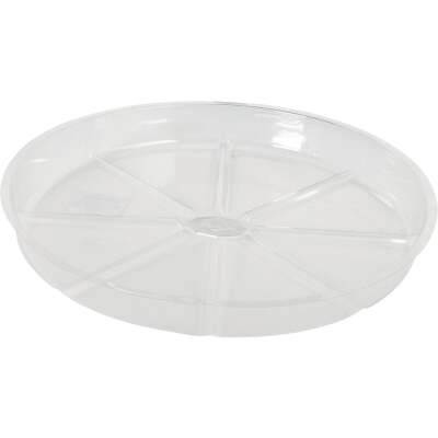 Best Garden 12 In. Clear Vinyl Flower Pot Saucer