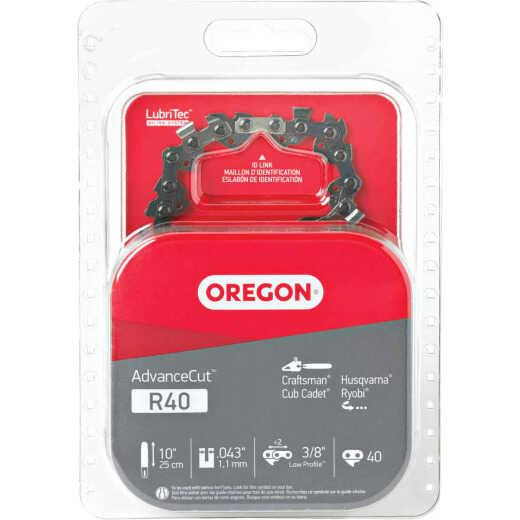 Oregon AdvanceCut LubriTec R40 10 In. 3/8 In. Low Profile 40 Link Chainsaw Chain