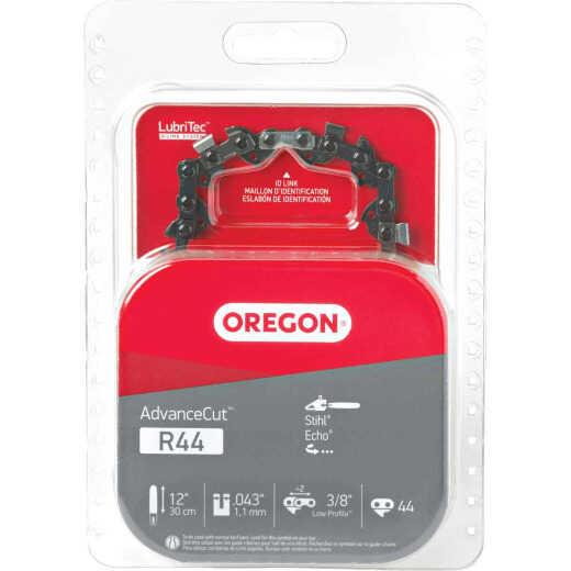Oregon AdvanceCut LubriTec R44 12 In. 3/8 In. Low Profile 44 Link Chainsaw Chain