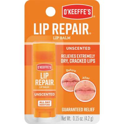 O'Keeffe's Original Unflavored Lip Balm, 0.15 Oz.