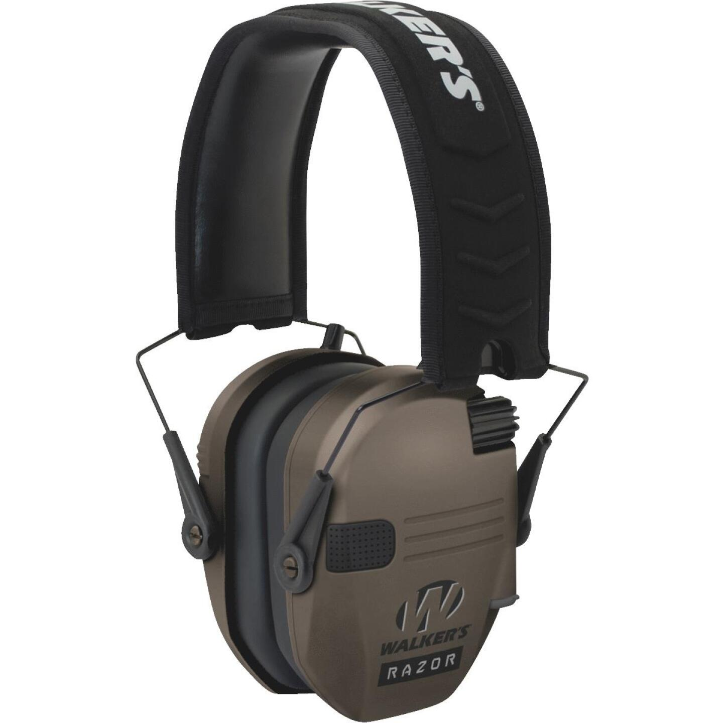 Walker's Razor Series Dark Earth Electronic Earmuffs Image 1
