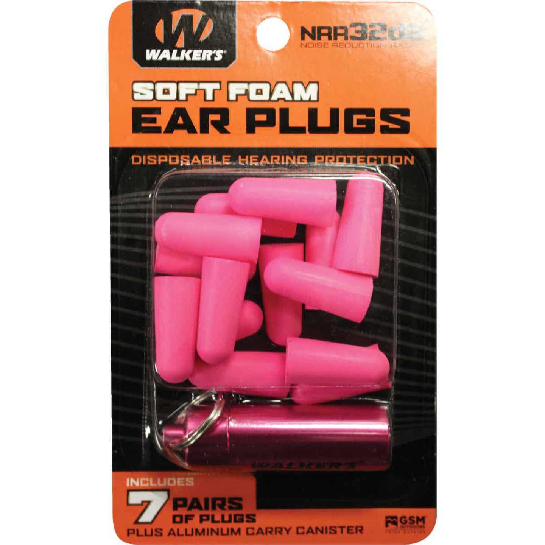 Walker's Soft Foam Neon Pink Ear Plugs (7-Pair) Image 1