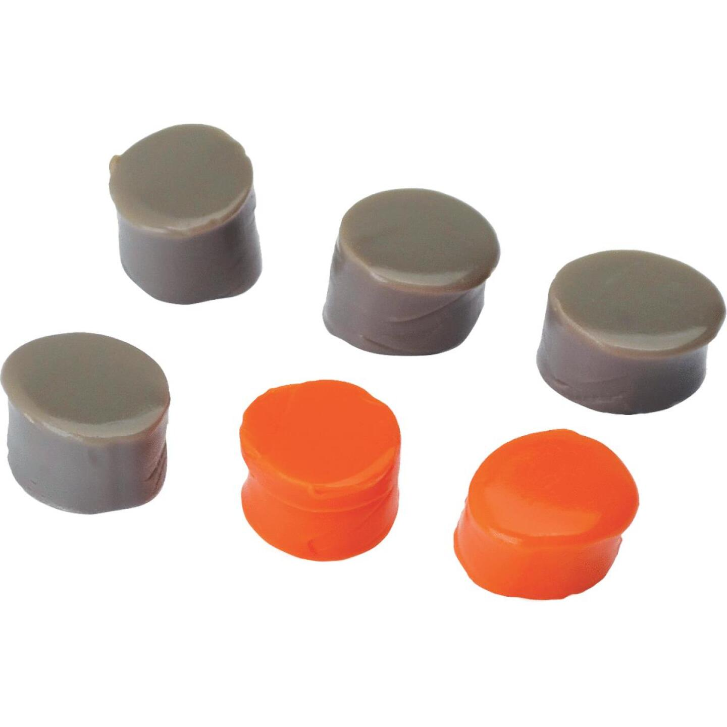 Walker's Silicone Putty Orange & Dark Earth Ear Plugs (3-Pair) Image 2