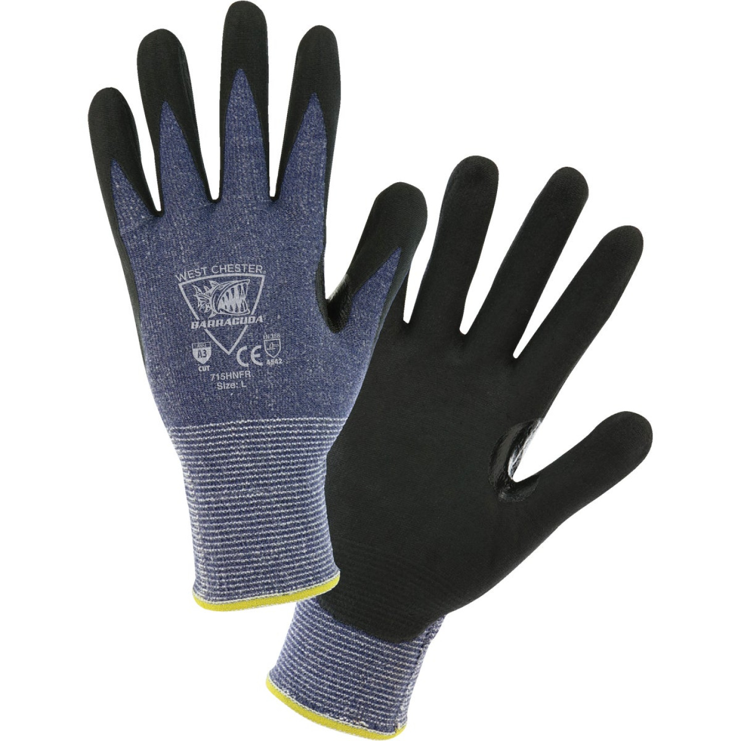 West Chester Protective Gear Barracuda Men's Medium 15-Gauge Nitrile Coated Glove Image 1