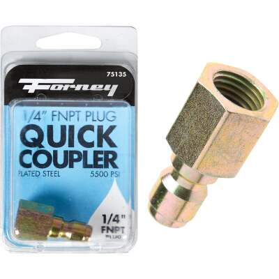 Forney 1/4 In. Female Quick Connect Pressure Washer Plug