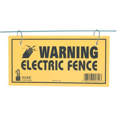 Dare Plastic Sign, Warning Electric Fence