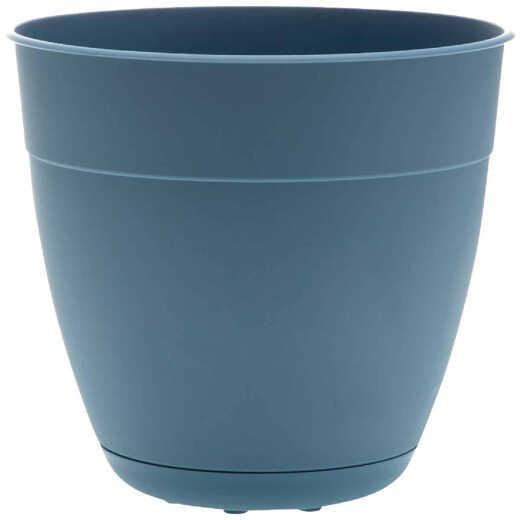 Bloem Ocean Series Dayton 10.95 In. H. x 10.75 In. Dia. Recycled Ocean Plastic Ocean Blue Planter