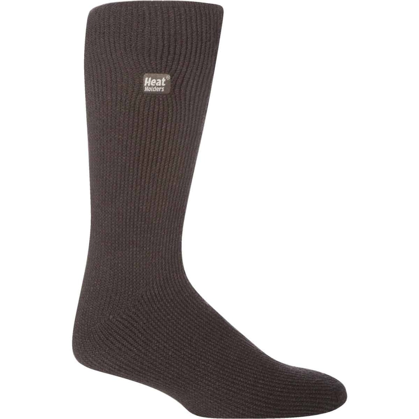 Heat Holders Men's 7 to 12 Charcoal Thermal Sock Image 1