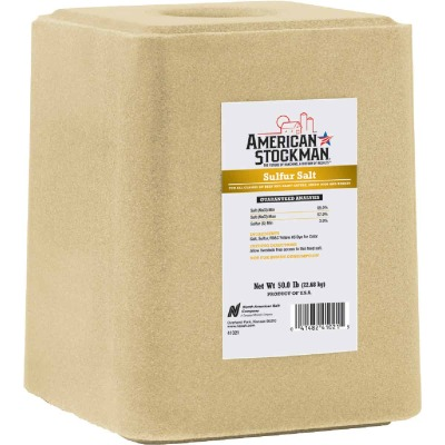 Amerian Stockman 50 lb. Sulfur Salt Block