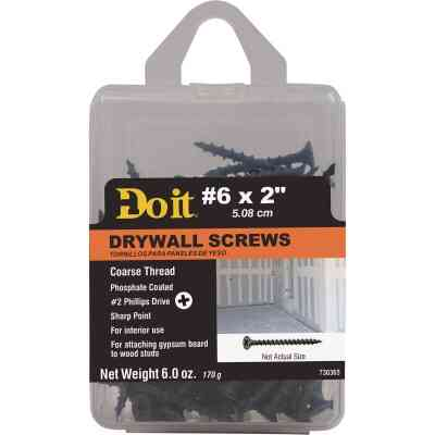 Do it #6 x 2 In. Coarse Thread Phosphate Drywall Screw