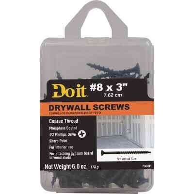 Do it #8 x 3 In. Coarse Thread Phosphate Drywall Screw