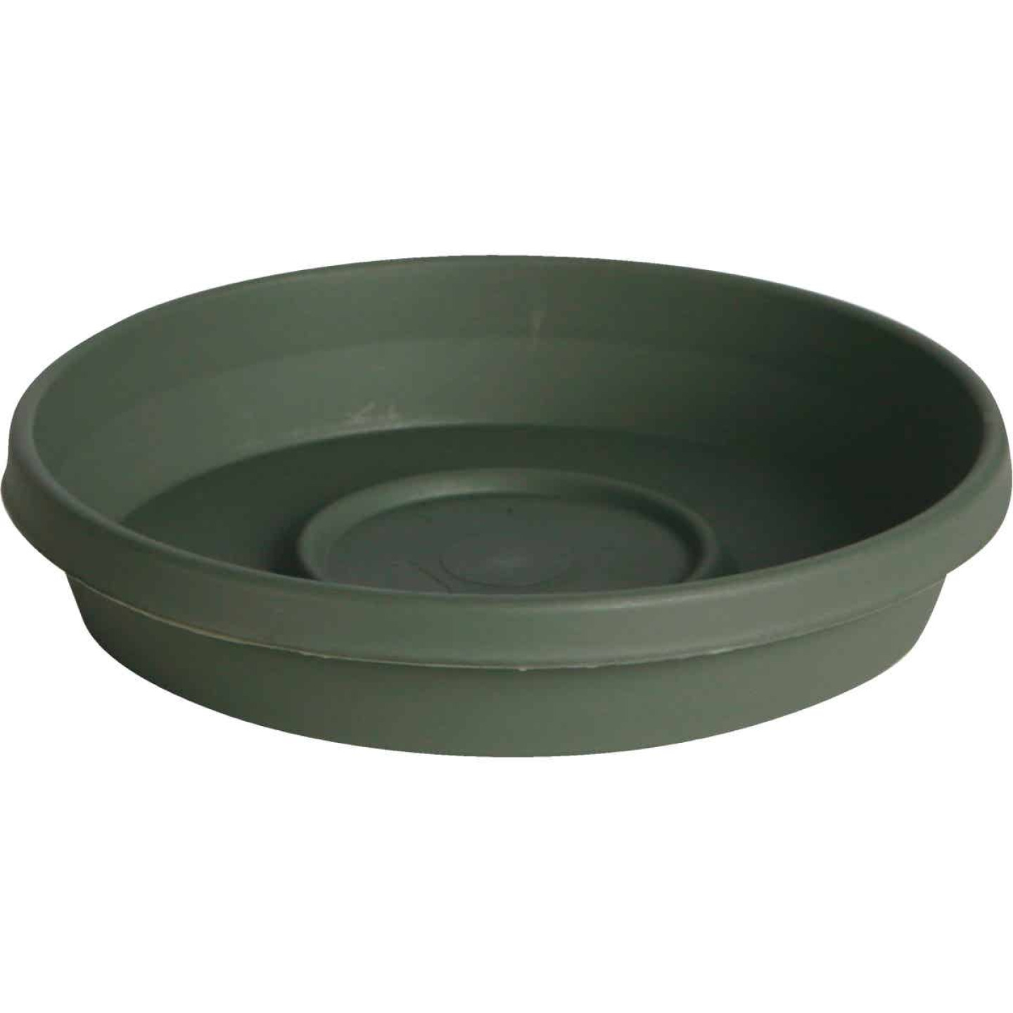 Bloem Terra Living Green 20 In. Plastic Flower Pot Saucer Image 1