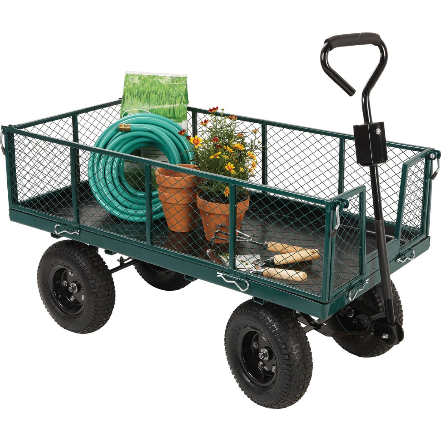 Best Garden 1000 Lb. Steel Garden Cart with Collapsible Sides Image 2