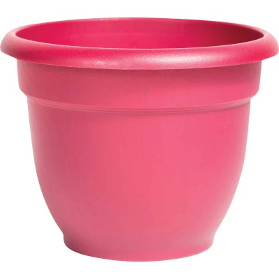 Bloem Ariana 13.75 In. H. x 16 In. Dia. Plastic Self Watering Burnt Red Planter