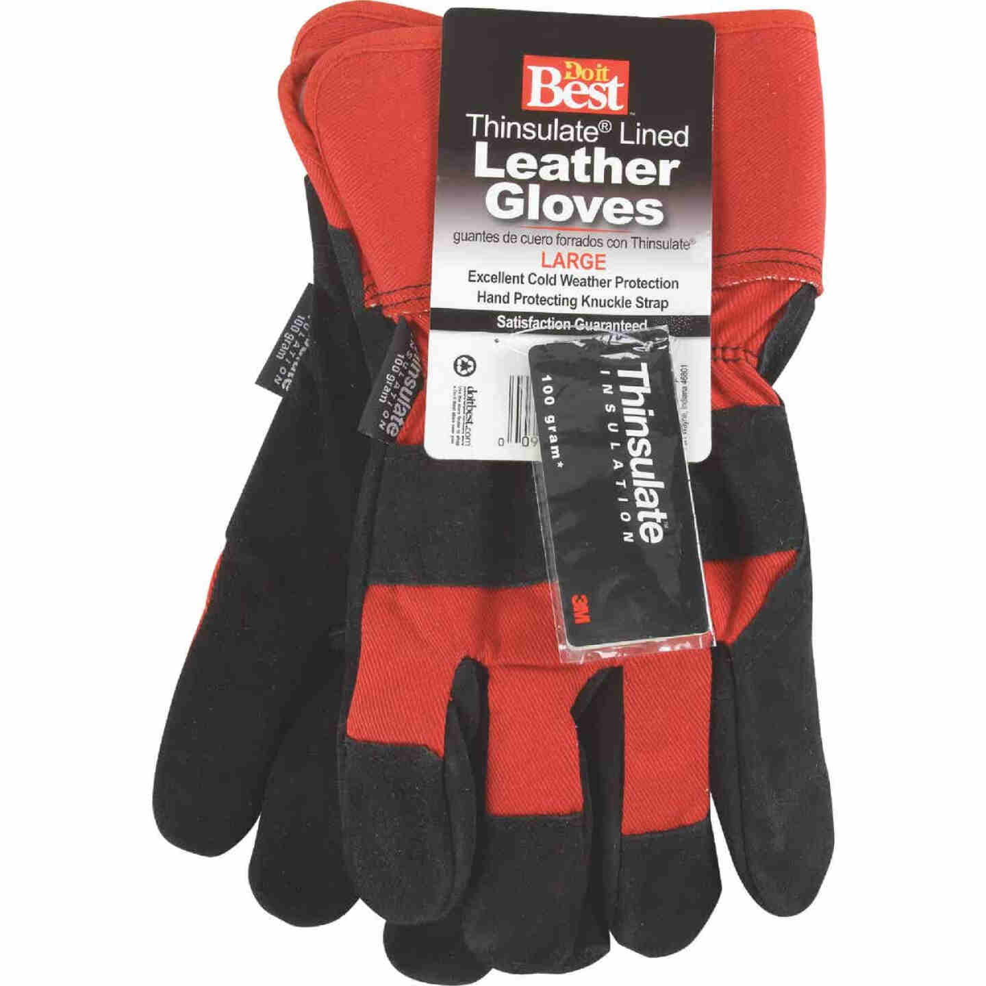Do it Best Men's XL Leather Winter Work Glove Image 2