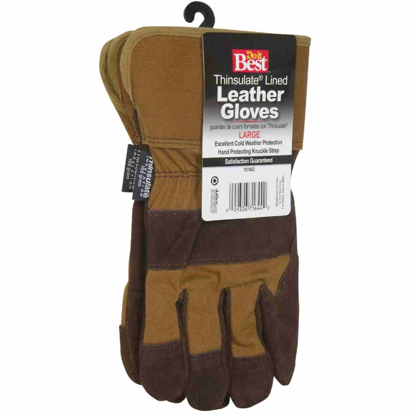 Do it Best Men's XL Leather Winter Work Glove Image 3