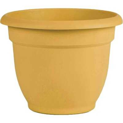 Bloem Ariana 13.75 In. H. x 16 In. Dia. Plastic Self Watering Earthy Yellow Planter