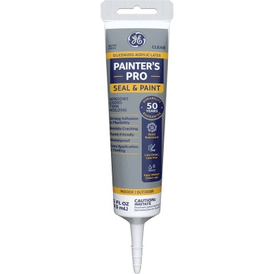 GE Painter's Pro 5.5 Oz. Clear Siliconized Acrylic Latex Caulk