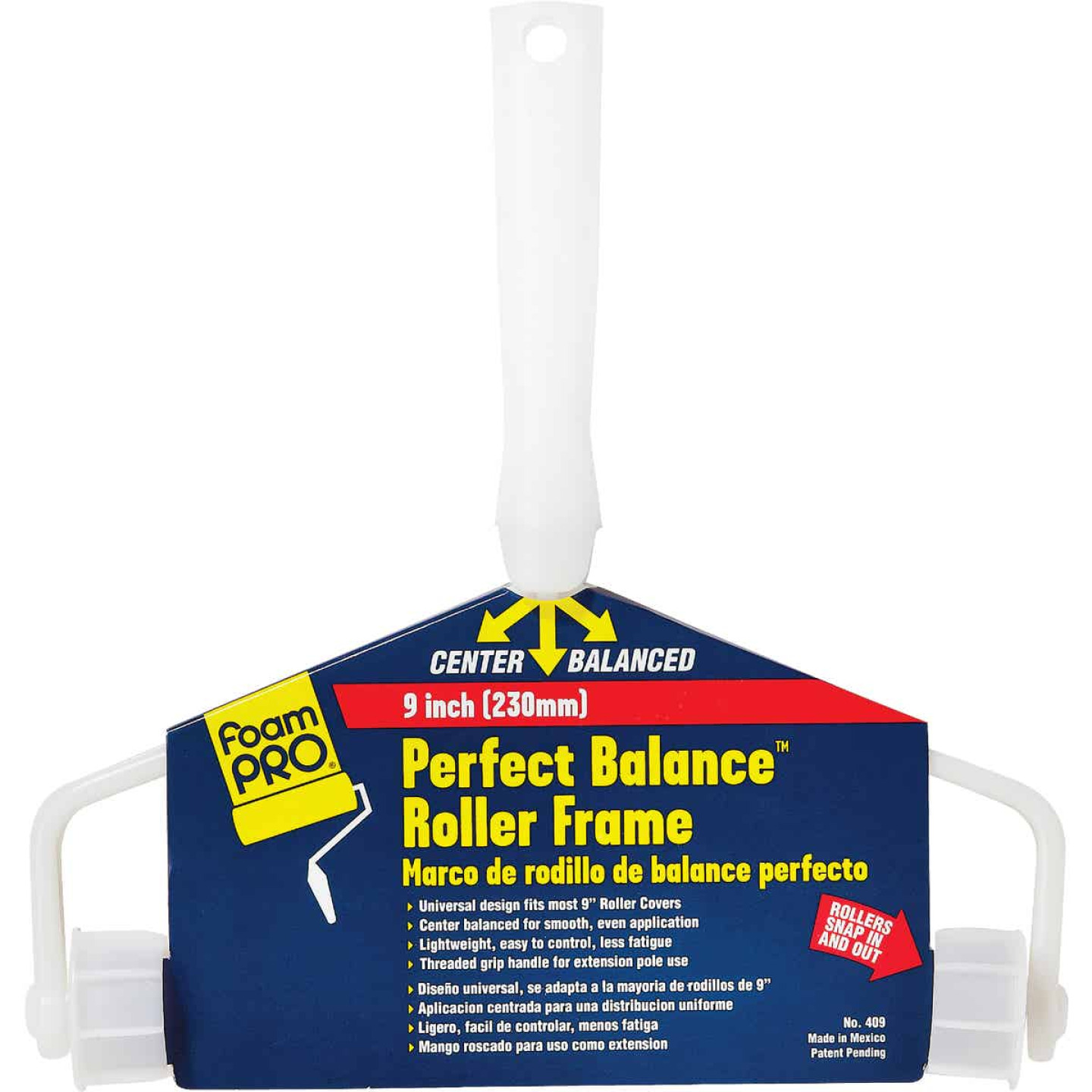 FoamPro Perfect Balance 9 In. Threaded Roller Frame Image 1