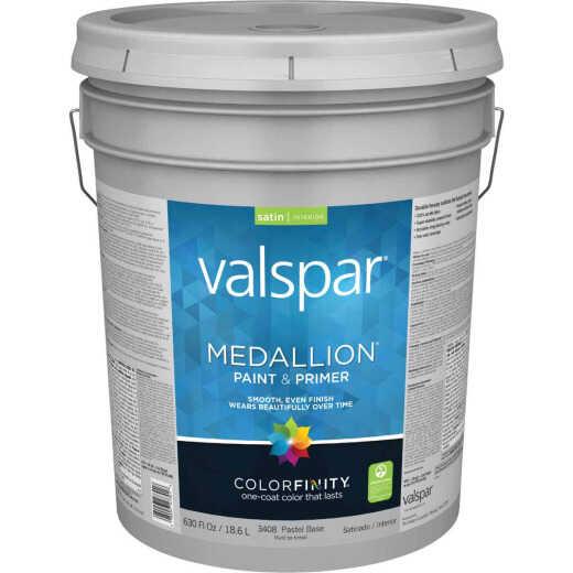 Valspar Medallion 100% Acrylic Paint & Primer Satin Interior Wall Paint, Pastel Base, 5 Gal.
