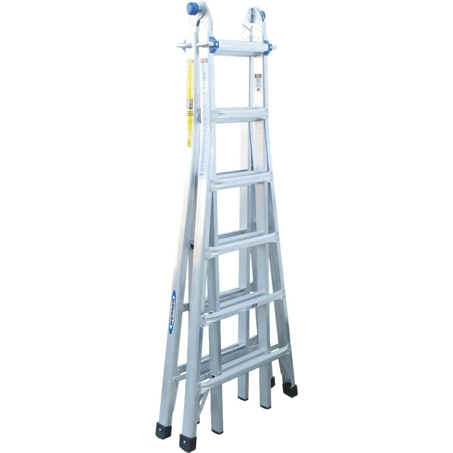 Werner 26 Ft. Aluminum Multi-Position Telescoping Ladder with 300 Lb. Load Capacity Type IA Ladder Rating Image 5
