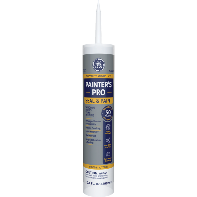 GE Painter's Pro 10.1 Oz. Clear Siliconized Acrylic Latex Caulk