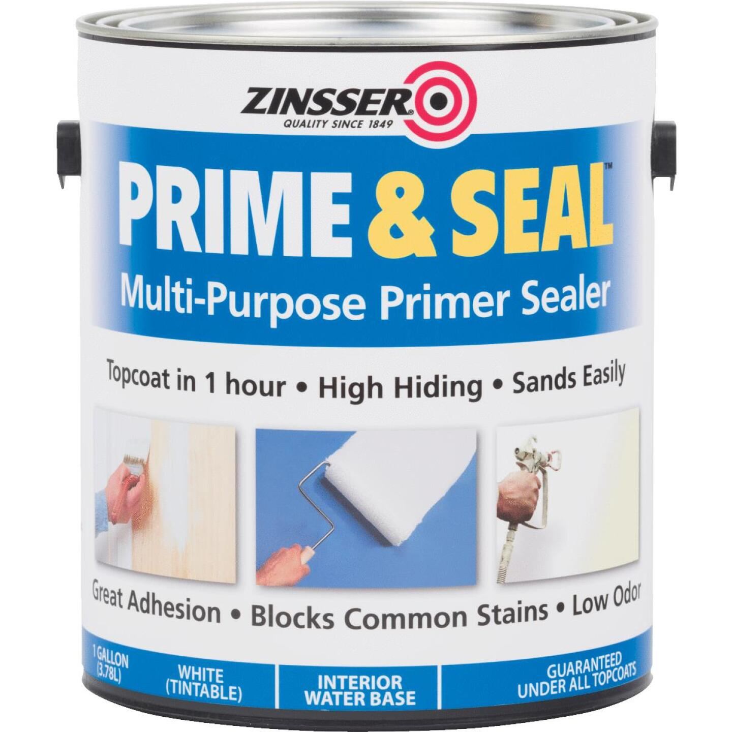 Zinsser Interior Prime & Seal Water-Based Primer, White, 1 Gal. Image 1