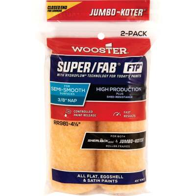 Jumbo-Koter S/F FTP 4-1/2 In. x 3/8 In. Knit Roller Cover (2-Pack)
