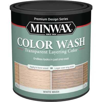 Minwax Water-Based White Wash Wood Stain, White, 1 Qt.